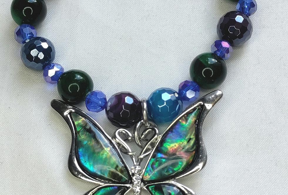 """Spirit Transformation"" Butterfly Pendant Bracelet"