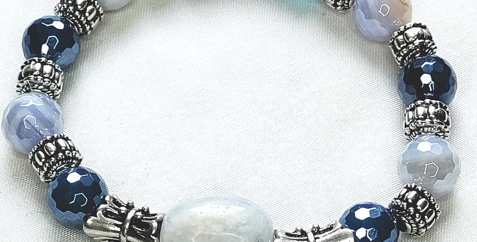 """Calm Seas"" Agate Bracelet"
