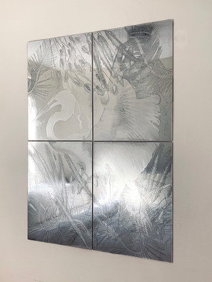 """The great one"", polished zinc, 32"" x 44"""