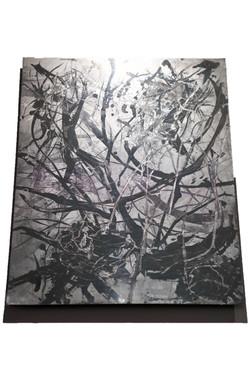 """Winter Night"", polished zinc, 20"" x 24"" (50 cm x 60 cm)"