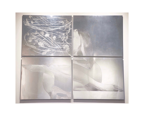 """""""Wherte I met you again for the first time"""", polished zinc, 40"""" x 48"""" (100 cm x 122 cm)"""