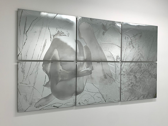 """She comes to me at night (and takes her in my arms)"", polished zinc, 40"" x 72"" (100 cm x 183 cm), etching"