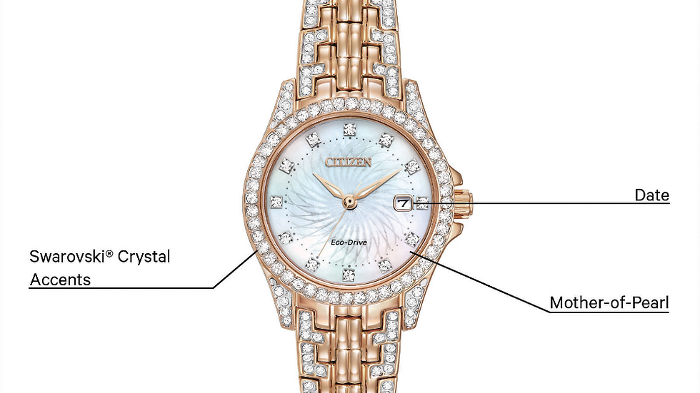 Ladies Citizen Eco-drive Silhouette Crystal EW1228-53D