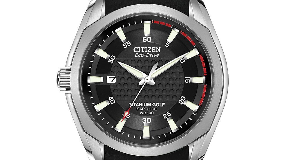 Gents Citizen Eco-drive Chandler Titanium Golf Watch
