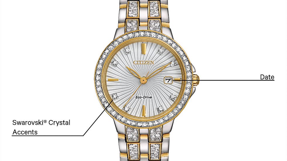 Ladies Citizen Eco-Drive Silhouette Crystal EW2344-57A