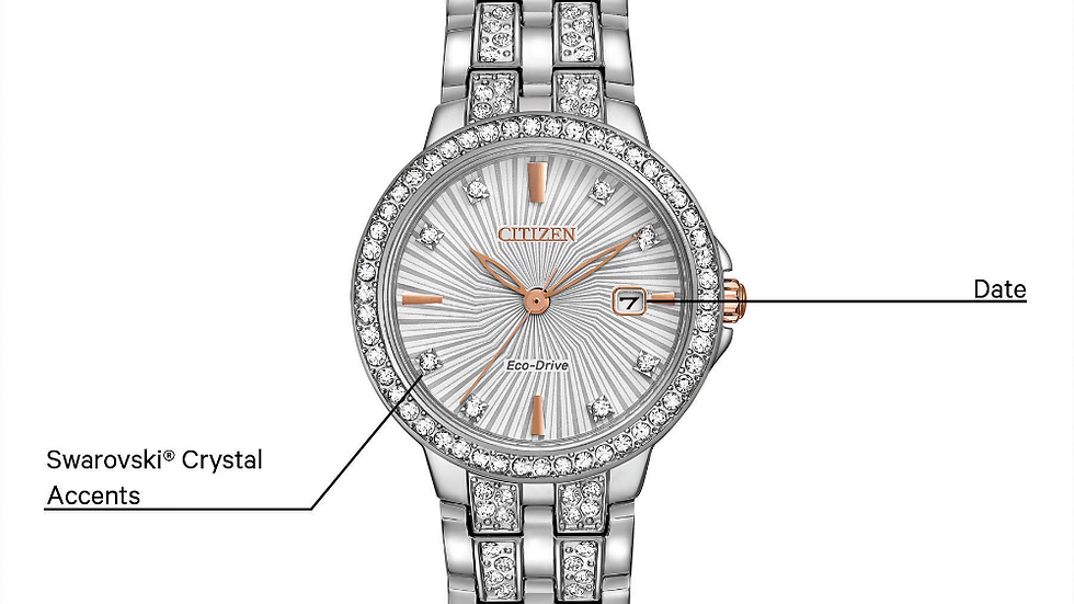 Ladies Citizen Eco-Drive Silhouette Crystal EW2340-58A