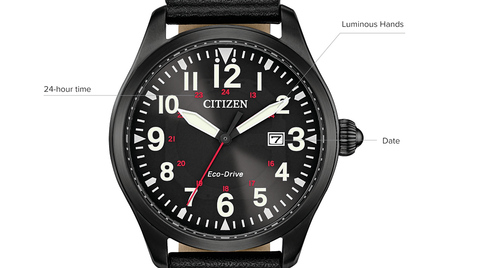 Gents Citizen Eco-Drive Garrison BM6835-15E