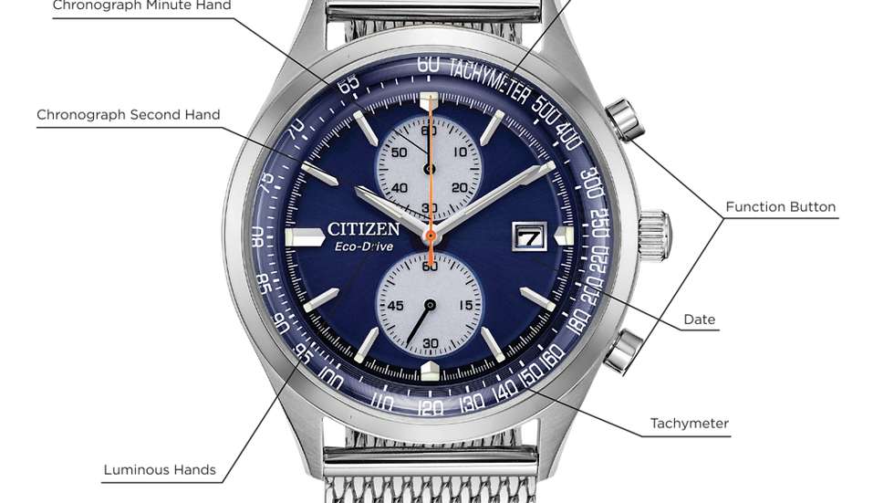 Gents Citizen Eco-Drive Chandler CA7020-58L