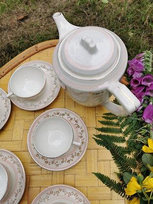 Service à thé Digoin Sarreguemines
