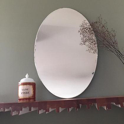 Miroir oval biseauté