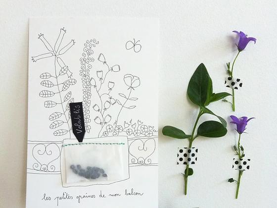 Carte à graines fleurs