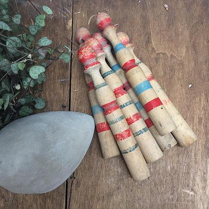 Mini quilles en bois