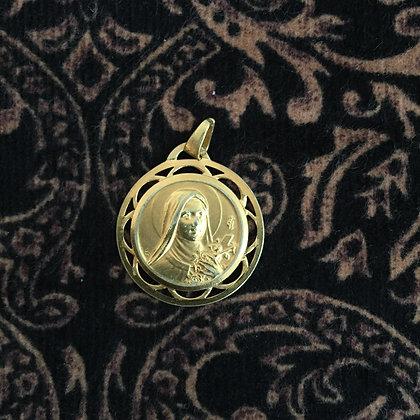 Médaille ancienne en plaqué or