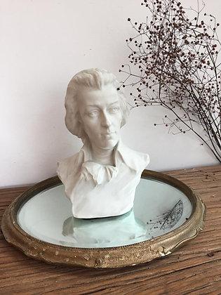 Ancien buste en biscuit