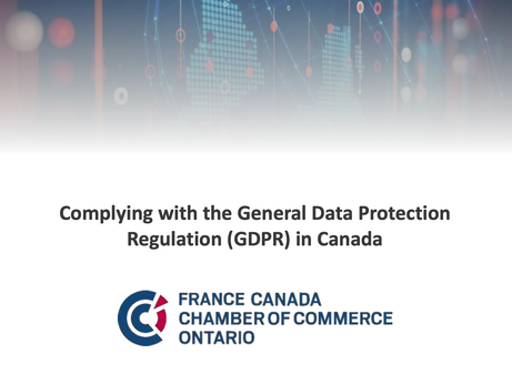 Complying with GDPR in Canada