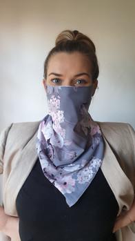 Satin Scarf Mask