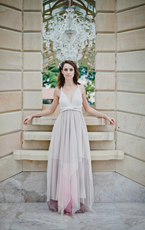 Convertible Dress - Square Tulle Skirt e
