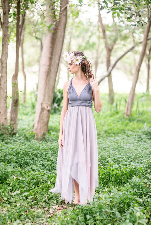 Convertible Dress - Sqaure Tulle Skirt e