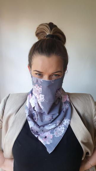 Patterned Scarf Mask