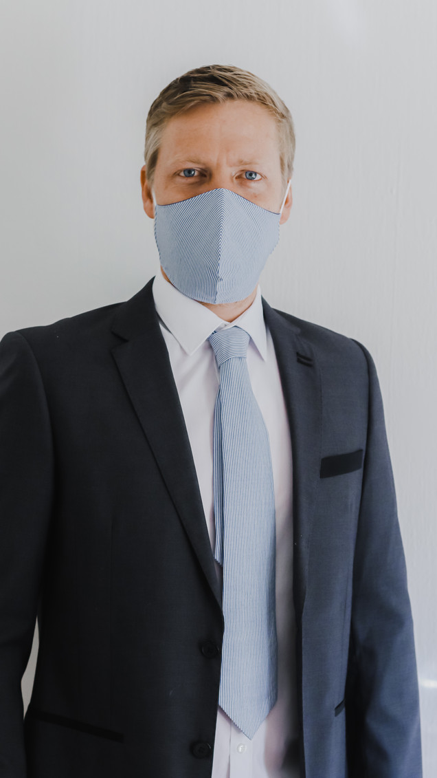 Face Mask and Tie Combo