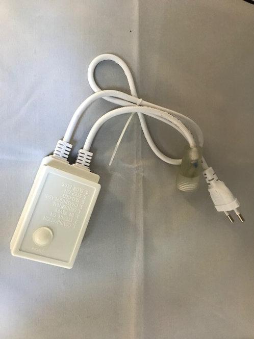 CONTROLLO A INTERMITTENZA PER TUBO FLESSIBILE LED 220V PROLUNGABILE DA ESTERNO