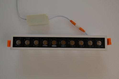 LAMPADA A LED DA INCASSO LINE  10X1W