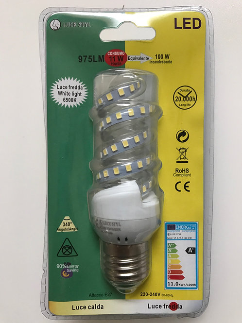 LAMPADINA LED SPIRALE 220V E27 11W