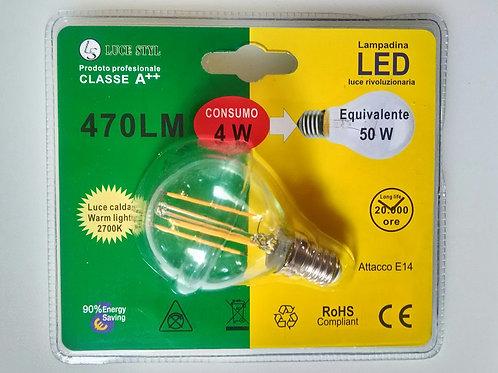 SFERA G45 4W E14 LED FILAMENT - promo da 6.50€ a 2.30€