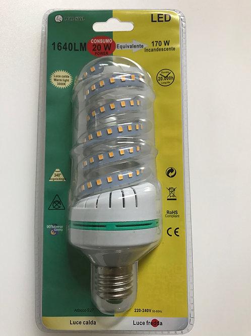 LAMPADINA LED SPIRALE 220V E27 20W