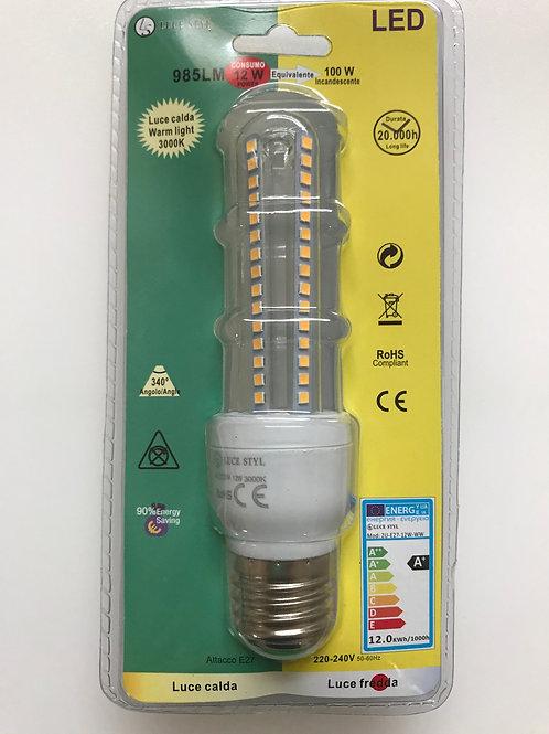 LAMPADINA LED SPIRALE 220V E27 12W