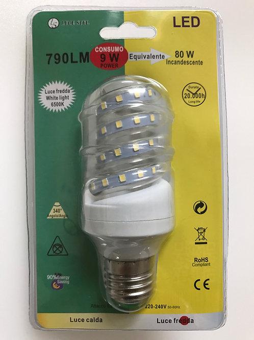 LAMPADINA LED SPIRALE 220V E27 9W