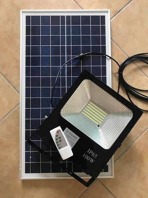 Faro Led solare 100W con pannello solare e telecomando