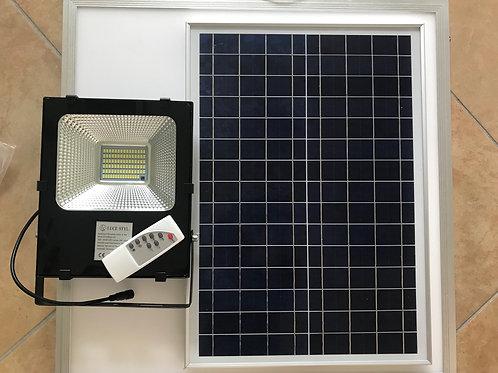 Faro Led Solare 50W con pannello solare e telecomando