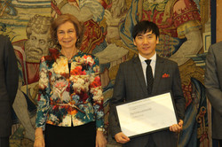 with Queen Sofia of Spain
