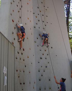 Climbing wall 2 campers.JPG