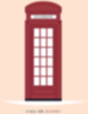 London Telephone box flat design