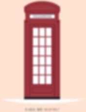 London Telephone box flat design
