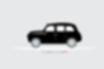London taxi flat design