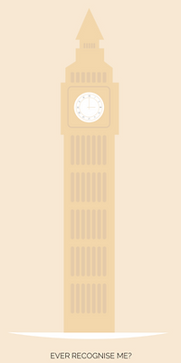 London eye flat design