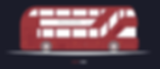 New London bus flat design