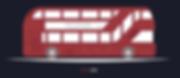 New London bus flat design