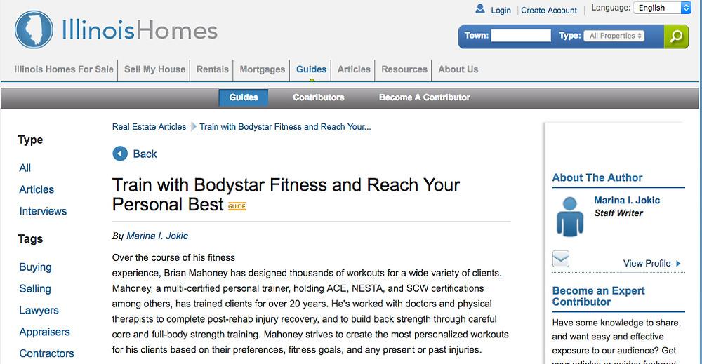 Personal Trainer Wilmette Bodystar Fitness North Shore