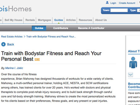 IllinoisHomes.com Publishes Bodystar Fitness Feature Article