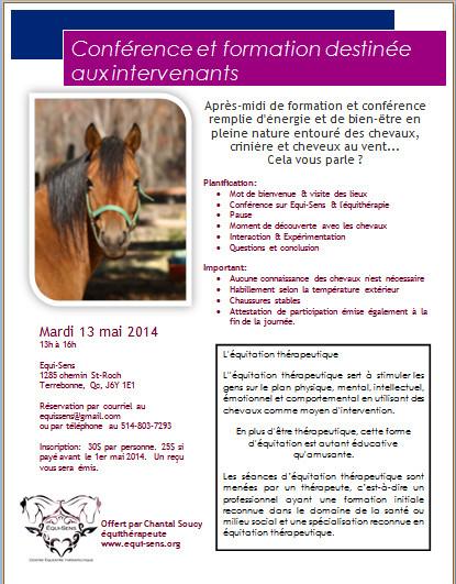 Conférence et Ateliers pour les INTERVENANTS