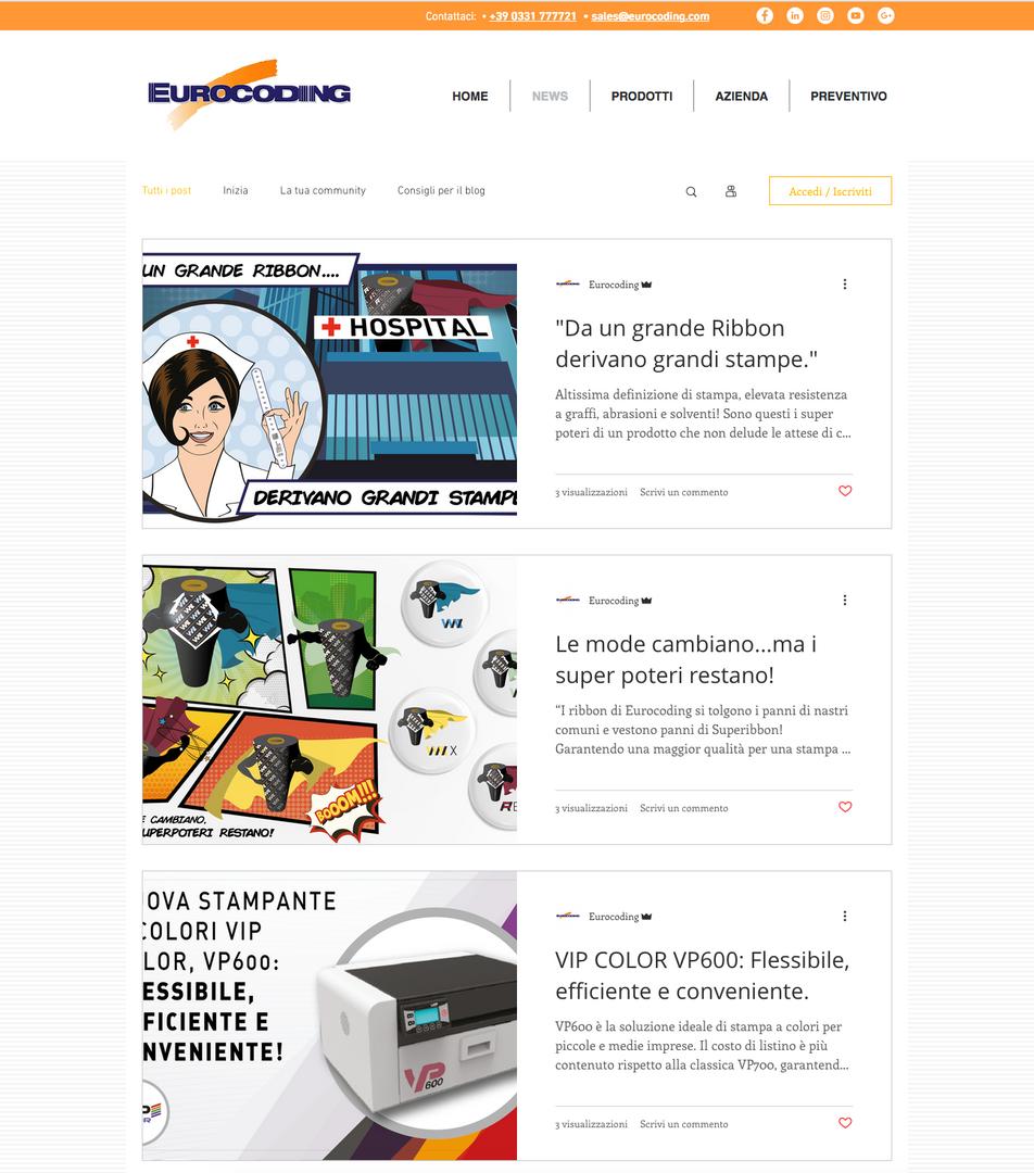 Template pagina News Eurocoding.com