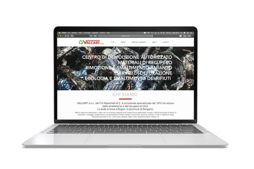 Pagina Home sito Valcart.com su pc