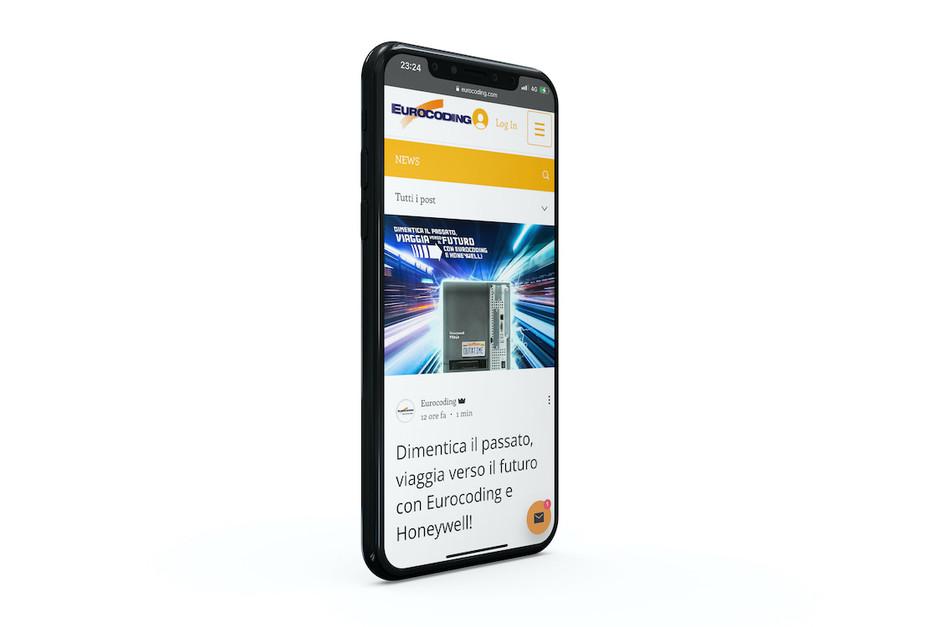 Pagina Home del sito Eurocoding.com mobile friendly