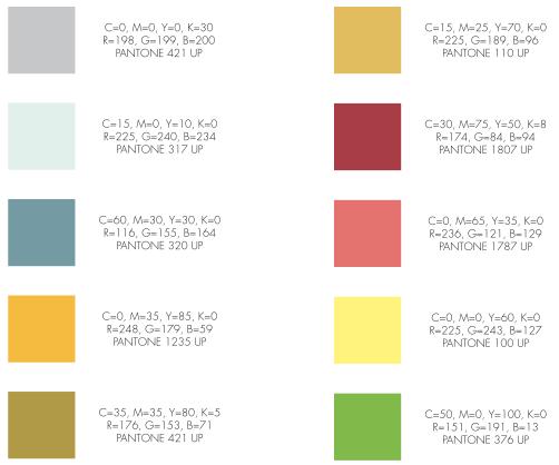 Palette colori Como Città