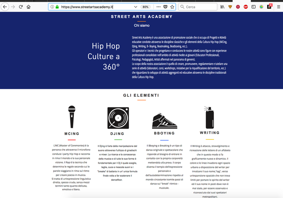 Template pagina Home Streetartsacademy.it