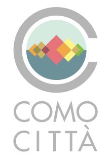 Concept logo Como Città